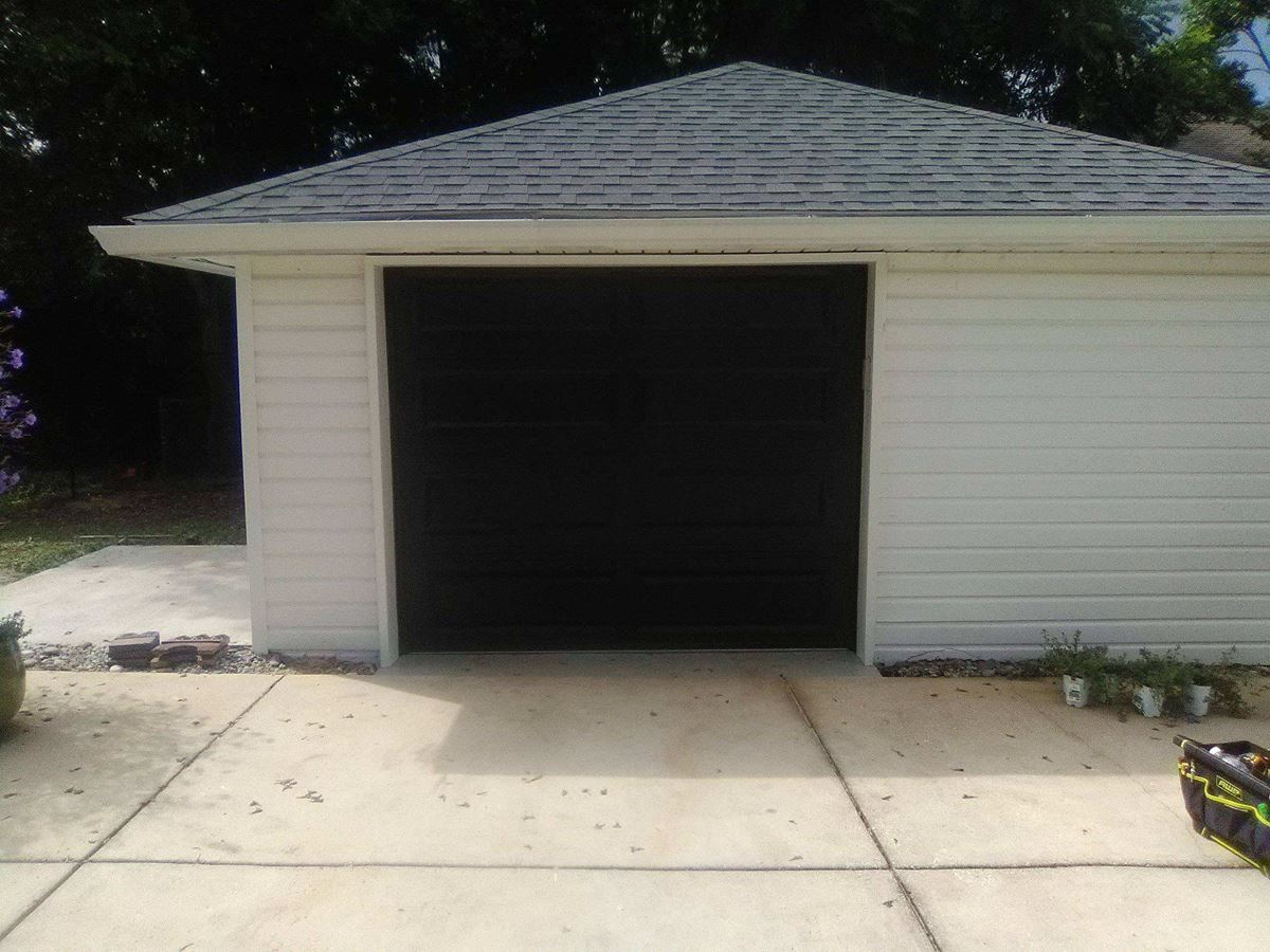 Three Single Car Garage Door Installations In Pensacola Fl